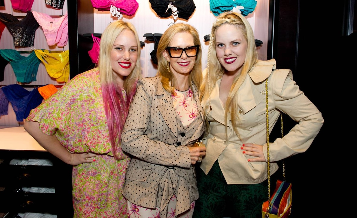 Fashion designers Cailliane (left) and Samantha Beckerman (right) with their mom Rana