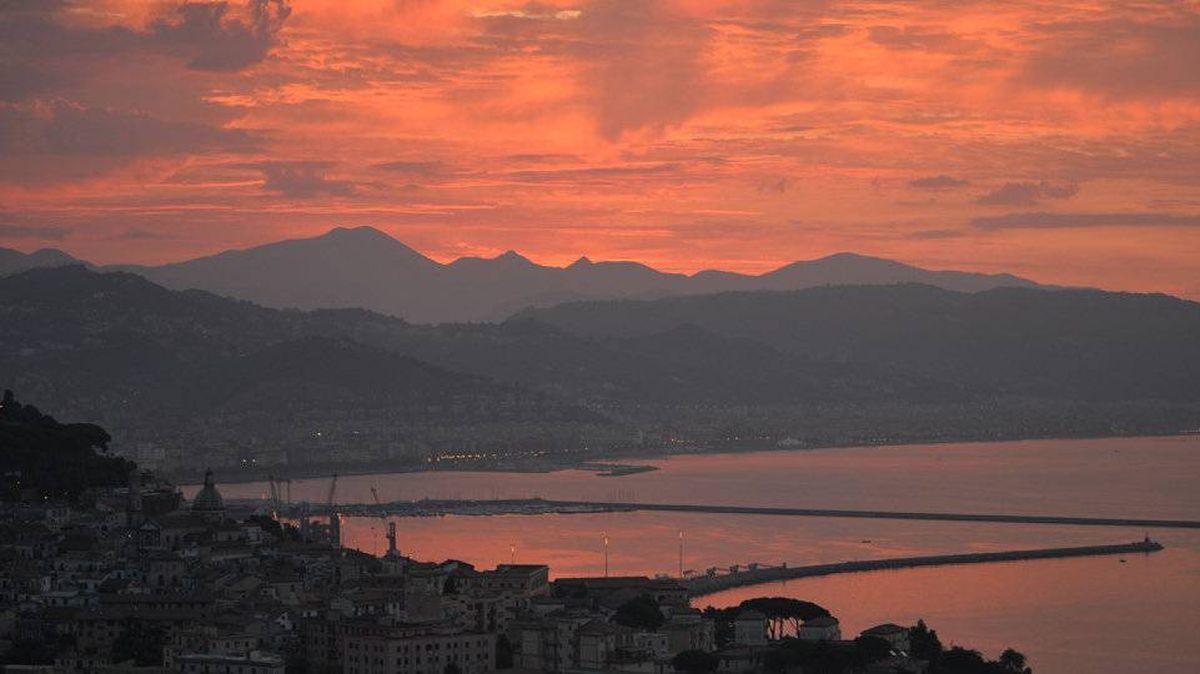 From Robert Price, Kitchener, Ontario: Sunrise over Salerno, Italy on the Amalfi Coast.