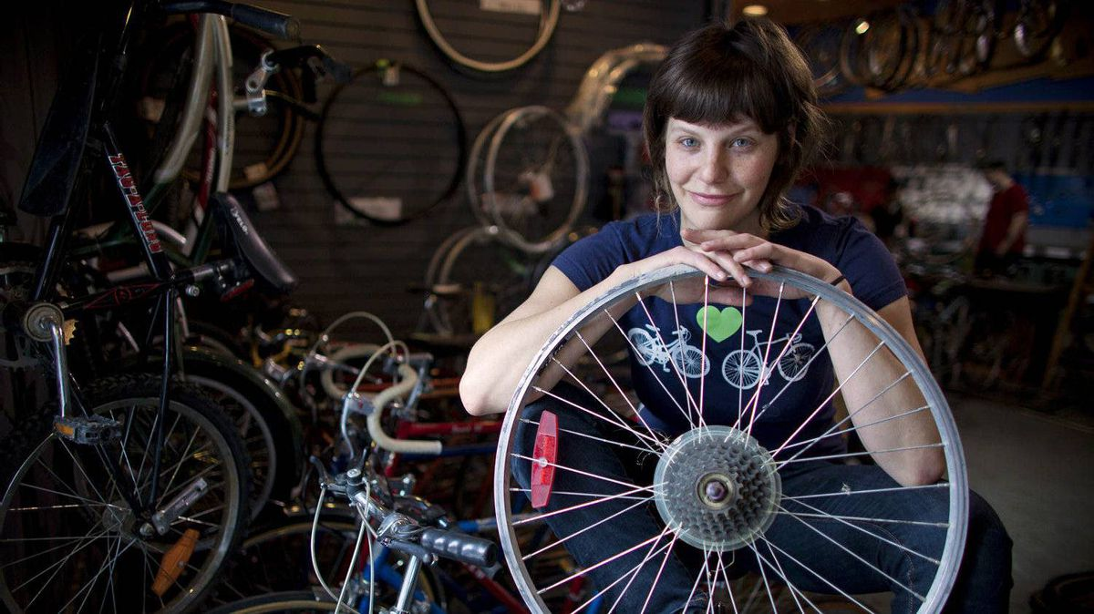 Jackie Mann, Co-Founder at the Good Life Community Bike Shop in Calgary.