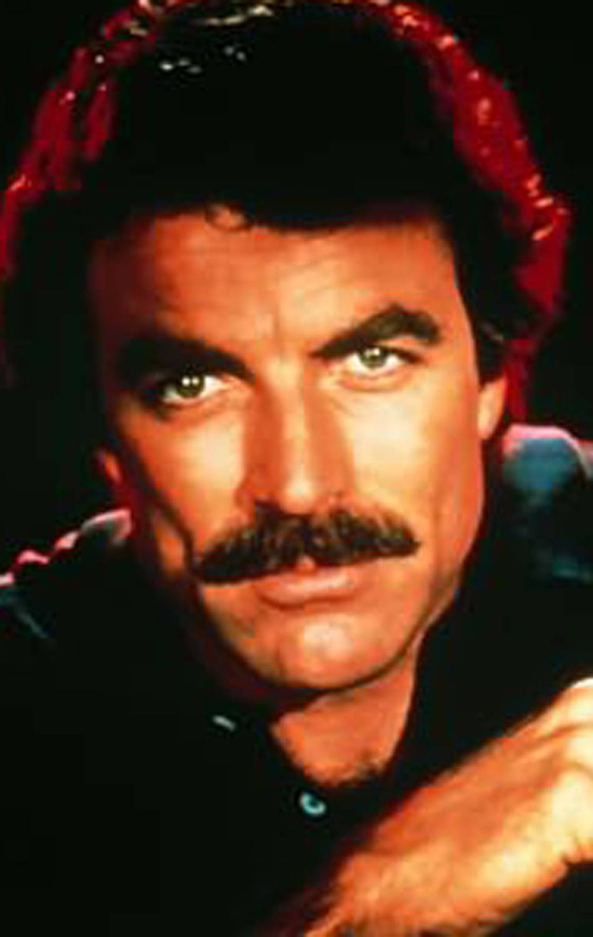 1. MAGNUM PI Oh, like you're surprised. The Hawaii-based private investigator and ultimate ladies man is awarded this elite prize. Tom Selleck is one of the few men who can proudly say they look better avec stache. (Seriously, have you seen him clean-shaven? We find ourselves pleading with the TV screen. Wear the stache, Tom, and don't ever take it off.)