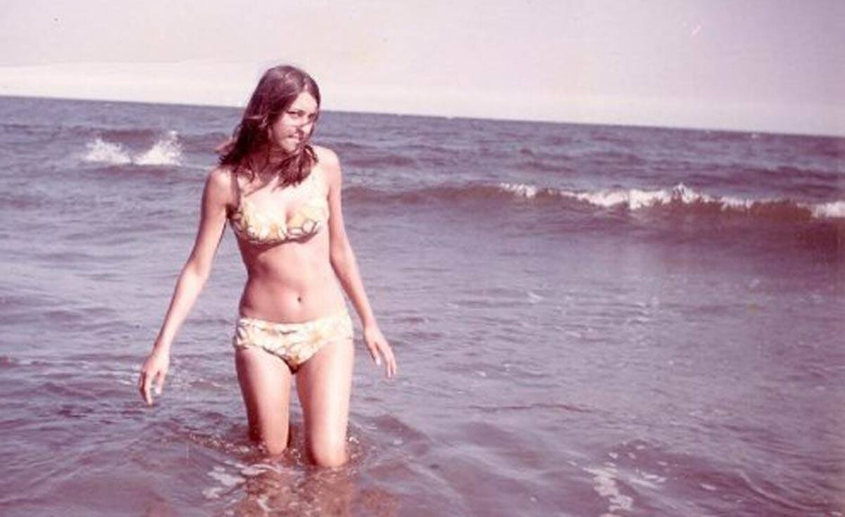 'My mom, Ginette, in 1969, looking cooler than cool and beautiful as always. Sadly, she passed away over a year ago...but pictures like this remind us of her youth, vitality and overall loveliness,' writes Manon Crôteau.