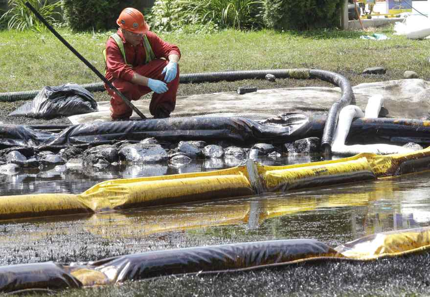 An Enbridge pipeline spill in Michigan in July, 2010
