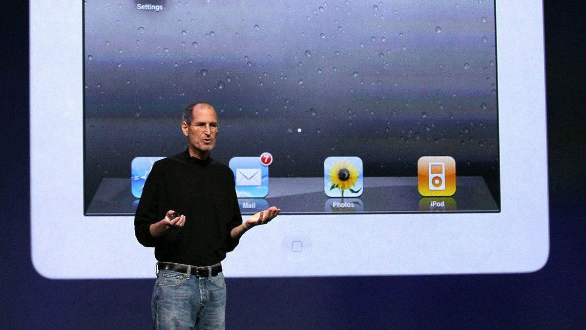 Apple CEO Steve Jobs speaks during an Apple Special event at the Yerba Buena Center for the Arts on March 2, 2011 in San Francisco, California. Apple unveiled the iPad 2 as the successor to its popular tablet, the iPad.