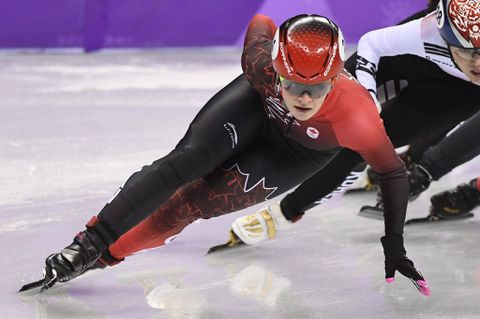 Kim Boutin wins silver in Olympic short track speed skating