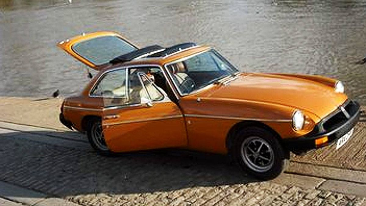 My very 1st car came with my very 1st wife 39 years ago. An orange '69 MGB GT with a sun roof and an 8 track loaded with Three Dog Night. Priceless except for the clutches and master cylinder and...