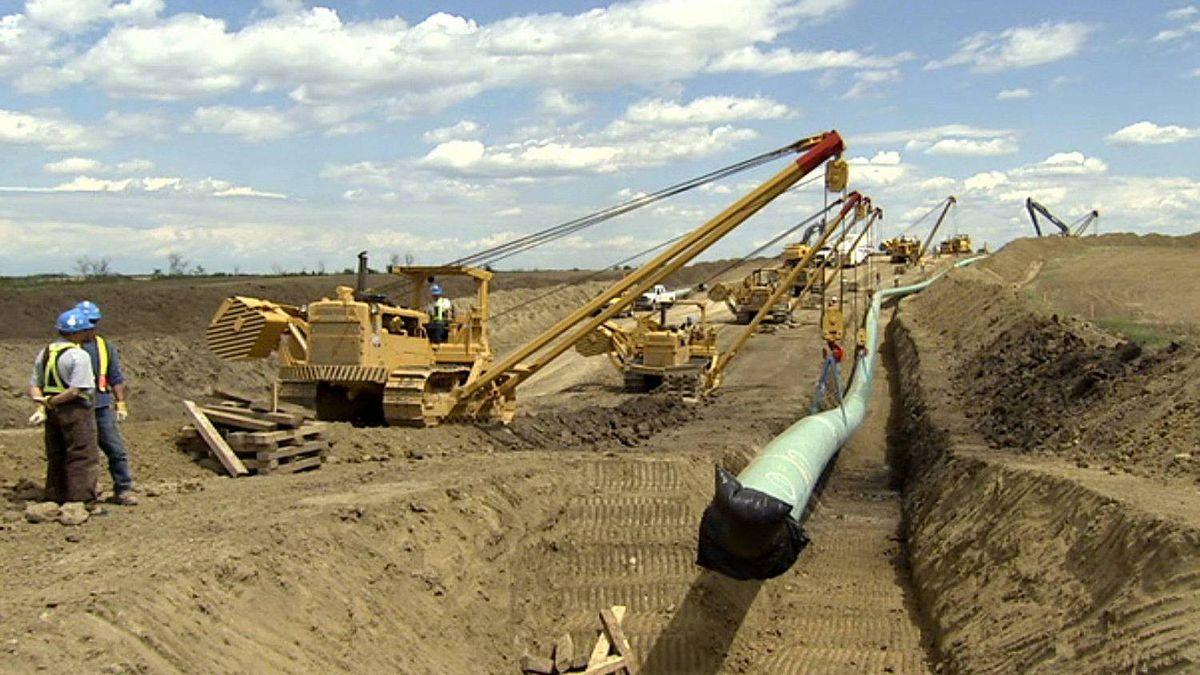 TransCanada's Keystone pipeline, shown here under construction