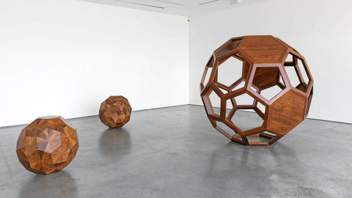 """Divina Proportione"" by Chinese artist and activist Ai Weiwei on display at the Lisson Gallery in London."