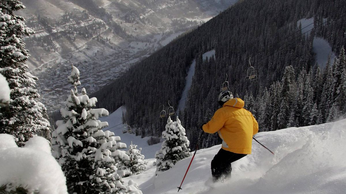 Some of the old pistes of Telluride Ski Resort are impossibly steep.