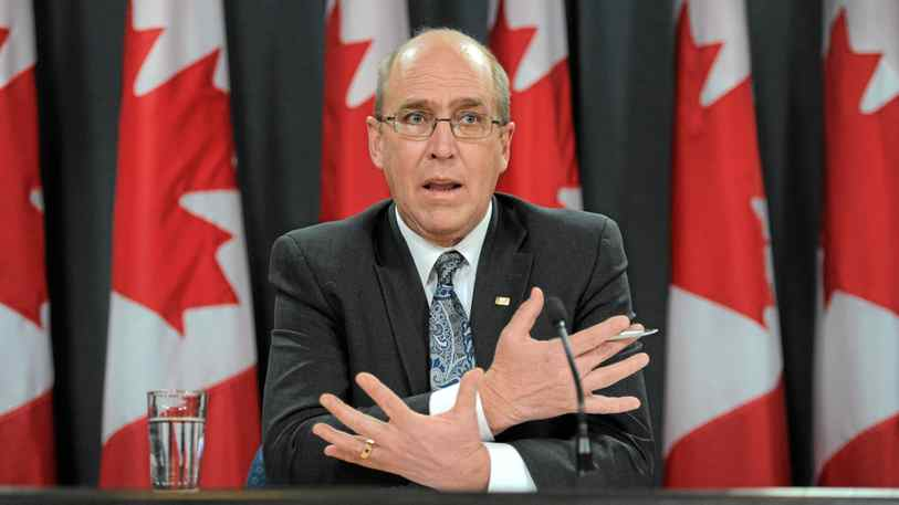 Interim auditor general John Wiersema holds a news conference following the release of an audit report in Ottawa on Tuesday, November 22, 2011.