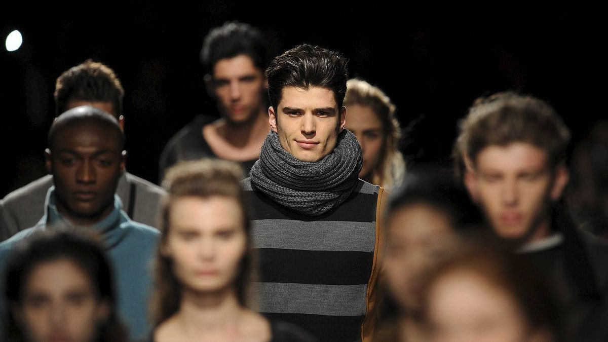 Models display creations by Portuguese designer Luis Buchinho during the Portugal Fashion Fall/Winter 2011 week Wednesday, March 23, 2011, in Porto, Portugal.