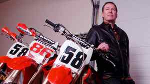 In 2007, Don Hatton was the only Canadian competing in the Lisbon to Dakar Rally, a gruelling 15 day, 9,273 km race on his KTM 525 dirt bike. He is photographed here with some of his other 10 motorcycles, since the one he's using in the race has been shipped ahead for the Jan 5th start.