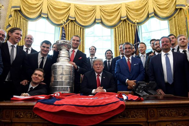 Trump hosts the Stanley Cup winning Washington Capitals