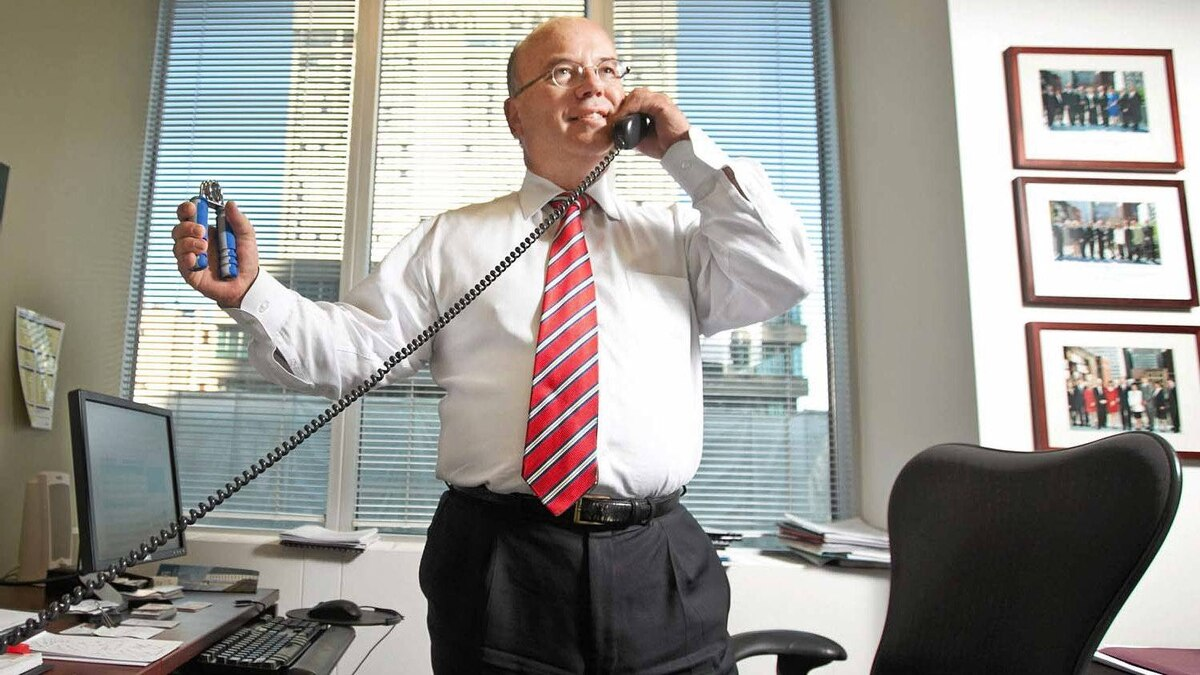 """Accountant Peter Jarvis is seen in his Toronto CFA Society office on Aug. 29, 2011. He watched the film """"Chasing Madoff"""" with Dave Globe and Mail reporter McGinn."""