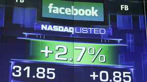 The pre-market price for Facebook stock is shown, Wednesday, May 23, 2012 at the Nasdaq in New York. Facebook stock rose in early trading, although still far below the $38 it was priced at before its initial public offering.