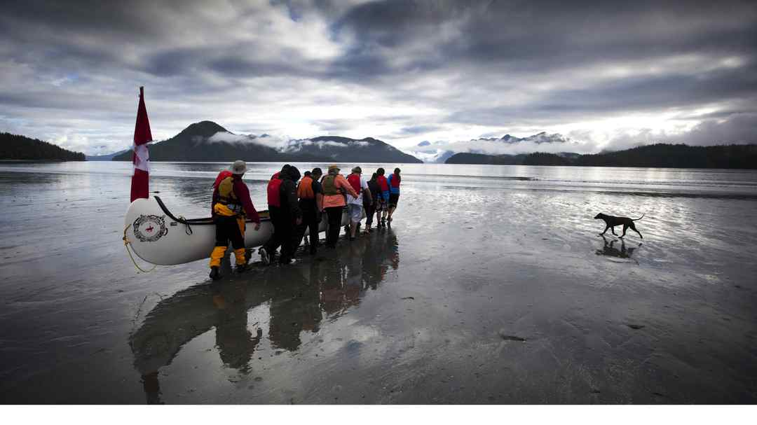 Globe photographer John Lehmann has been nominated for a National Newspaper Award for this photo he took of The Pulling Together canoe journey on July 3, 2001, in Ahousat, B.C. Nineteen 13-person canoes made the eight-day journey, visiting remote native villages between Tofino and Port Alberni.