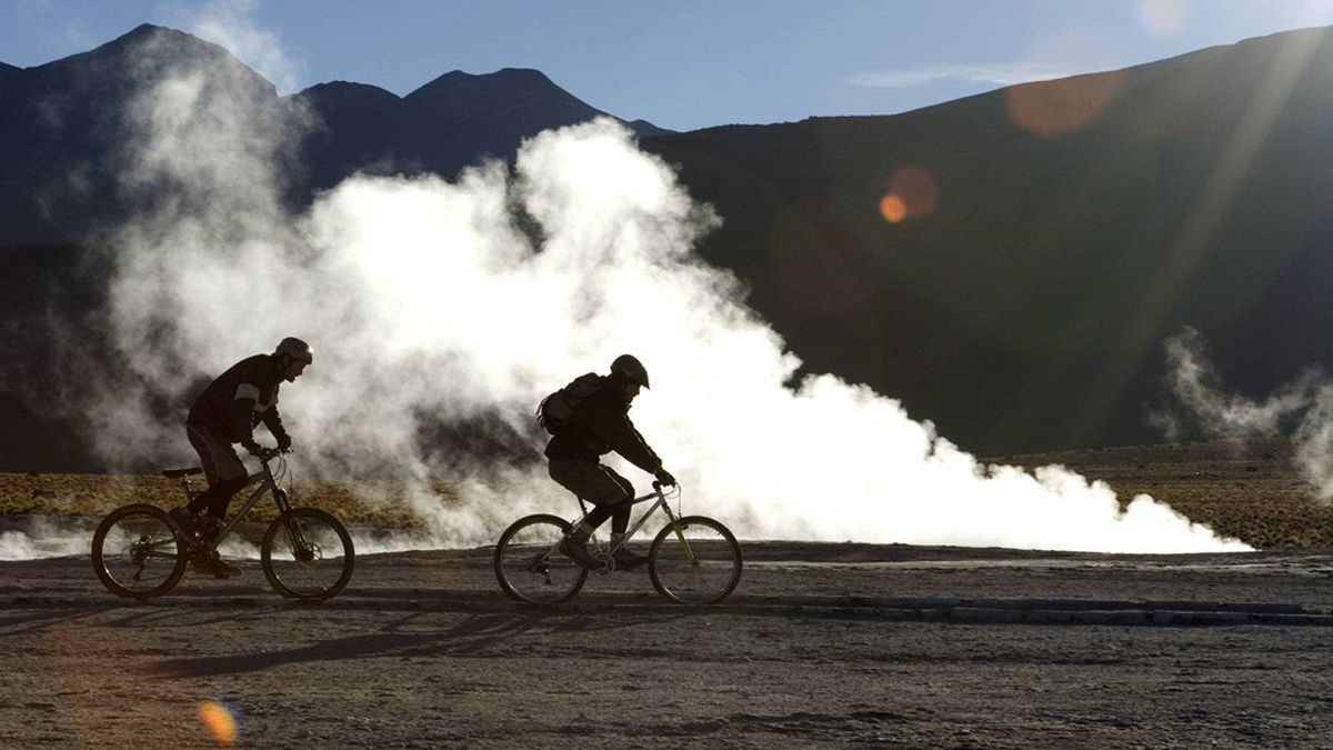 Riding by the El Tatio Geysers at 4000m, Atacama Desert, Chile