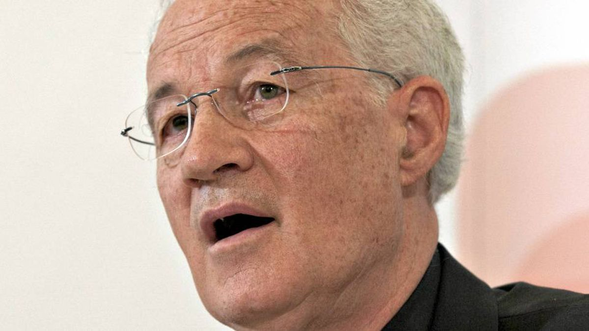 Cardinal Marc Ouellet responds to media at a news conference about his appointment by Pope Benedict XVI as Prefect of the Congregation for Bishops, Wednesday, June 30, 2010 in Quebec City.