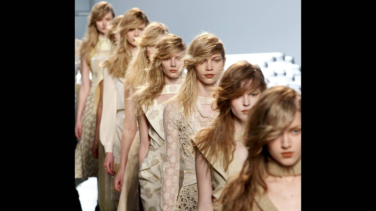 Models present creations at the Rodarte Fall/Winter 2011 collection during New York Fashion Week