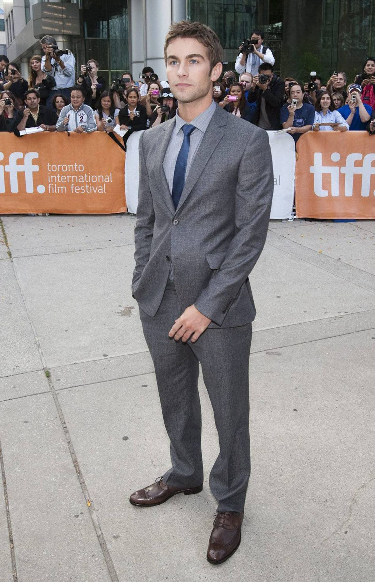 """Actor Chace Crawford poses at the gala for the film """"Peace, Love and Misunderstanding"""" during the Toronto International Film Festival Tuesday, September 13, 2011."""