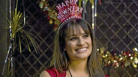 Lea Michele In A Scene From New Years Eve