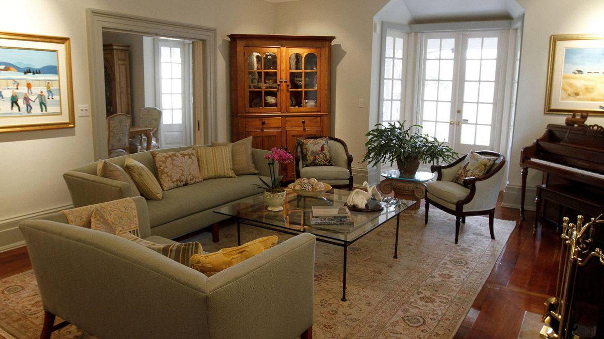 Ross Petty and Karen Kain's living room