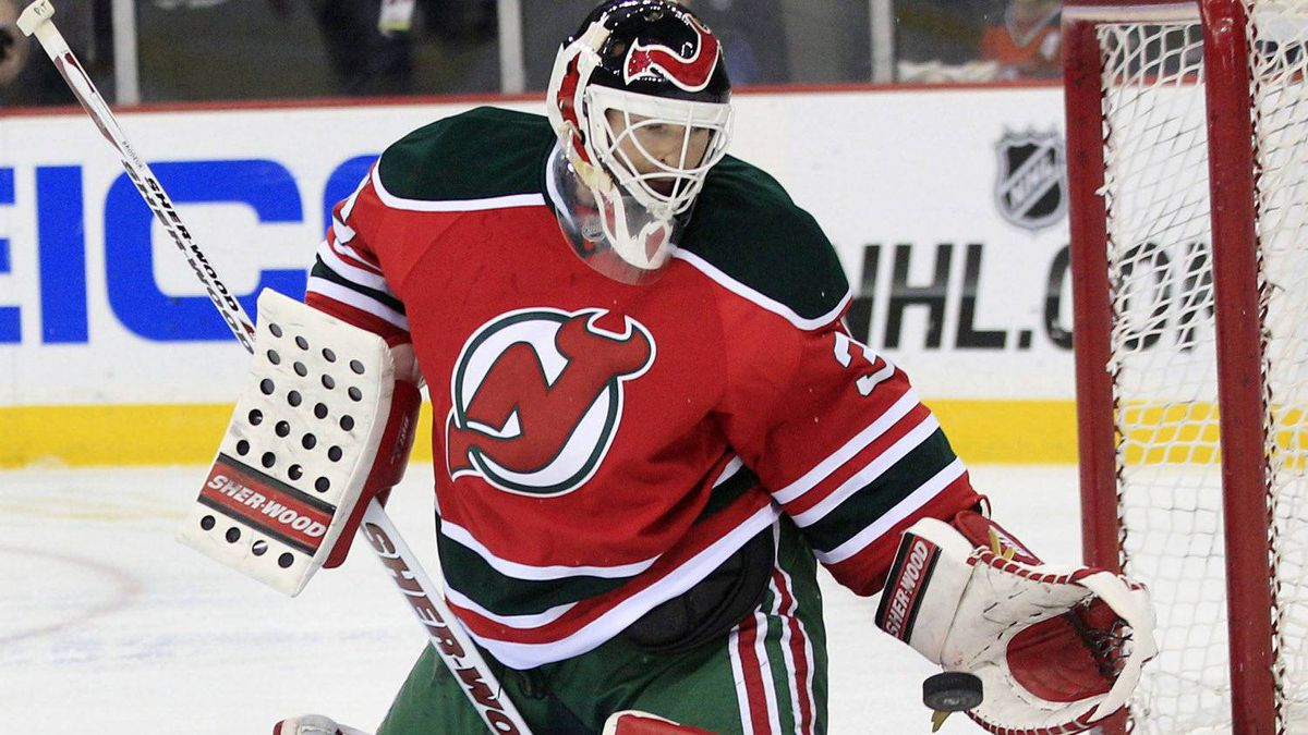Martin Brodeur and the New Jersey Devils face the New York Rangers on Monday night. (AP Photo/Mel Evans)