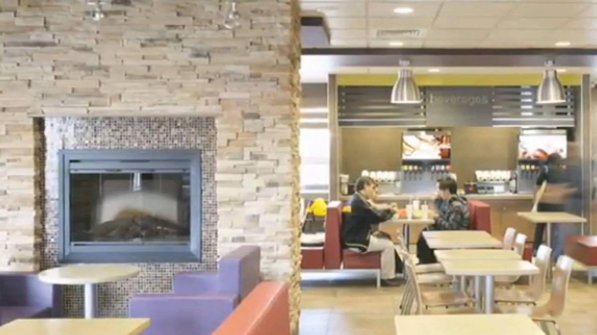 A screenshot of a YouTube video showcasing McDonald's new look.