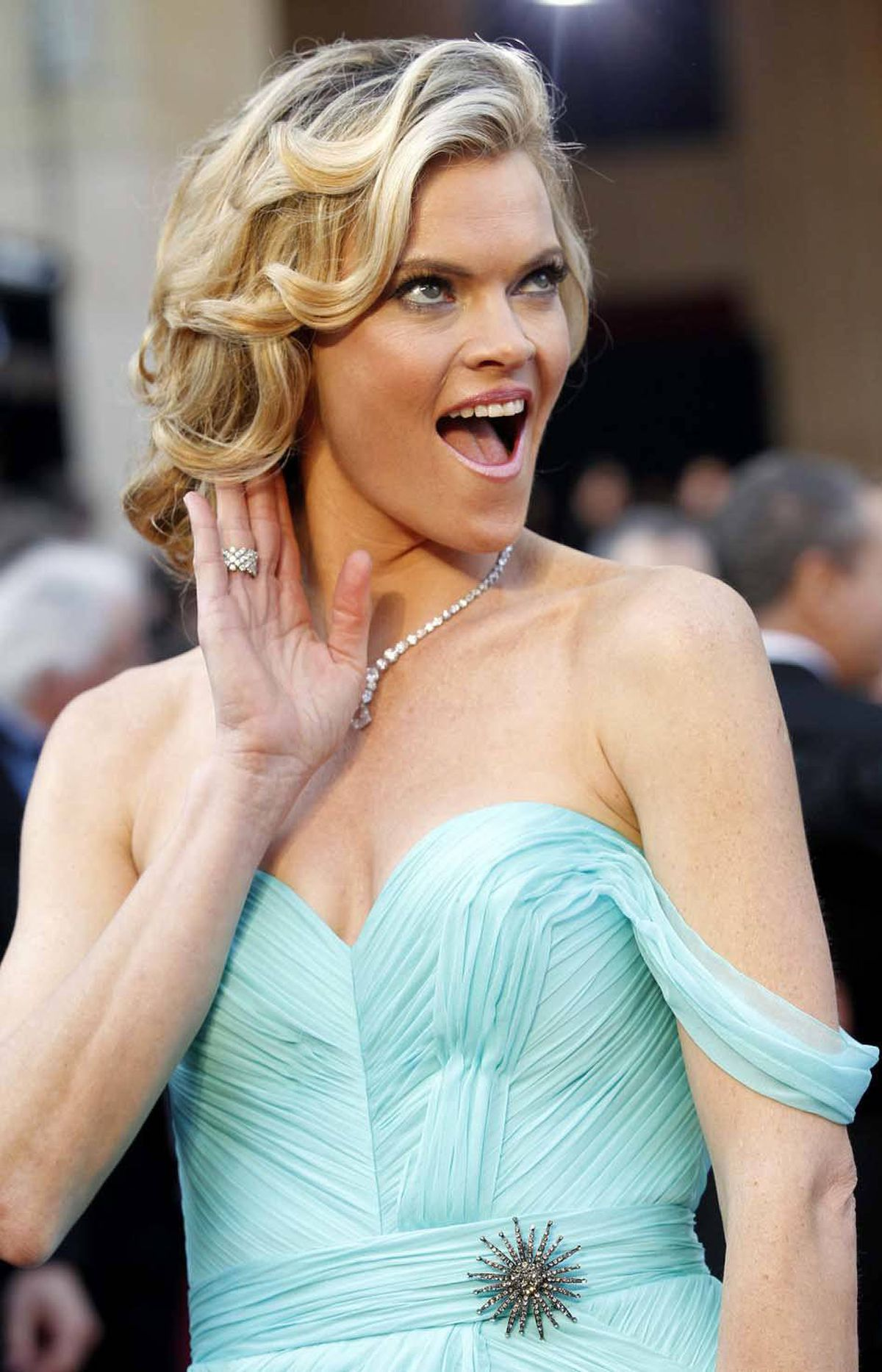 """Did someone say after party?!?"" asks Missi Pyle on the Oscars pre-after-party red carpet Sunday."