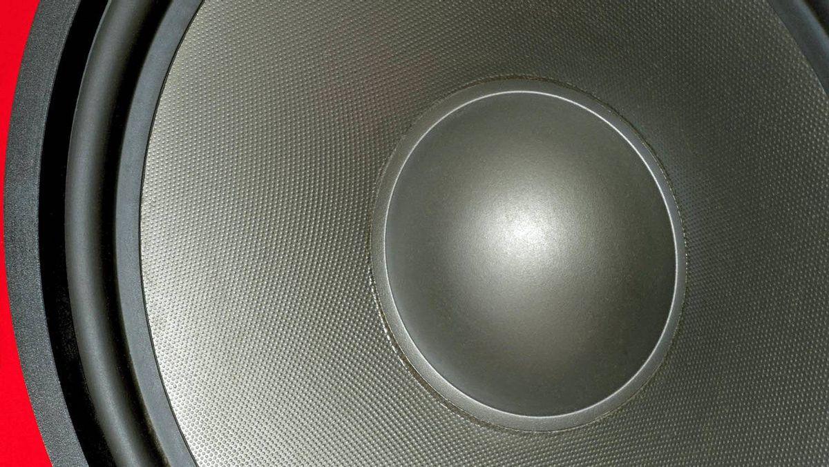Close-up of a bass loudspeaker