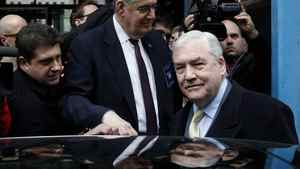 Conrad Black is shown leaving the federal building in Chicago, Thursday, Jan. 13, 2011.