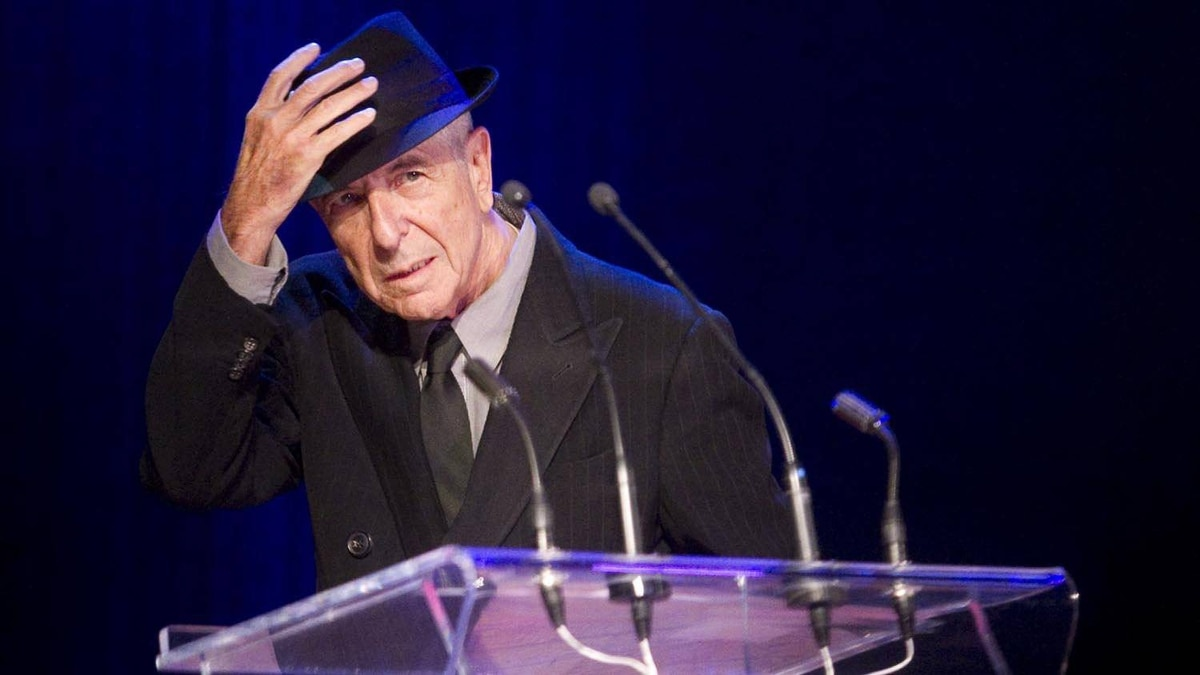 Leonard Cohen acknowledges the audience after receiving the Glenn Gould Prize in Toronto on May 14, 2012.
