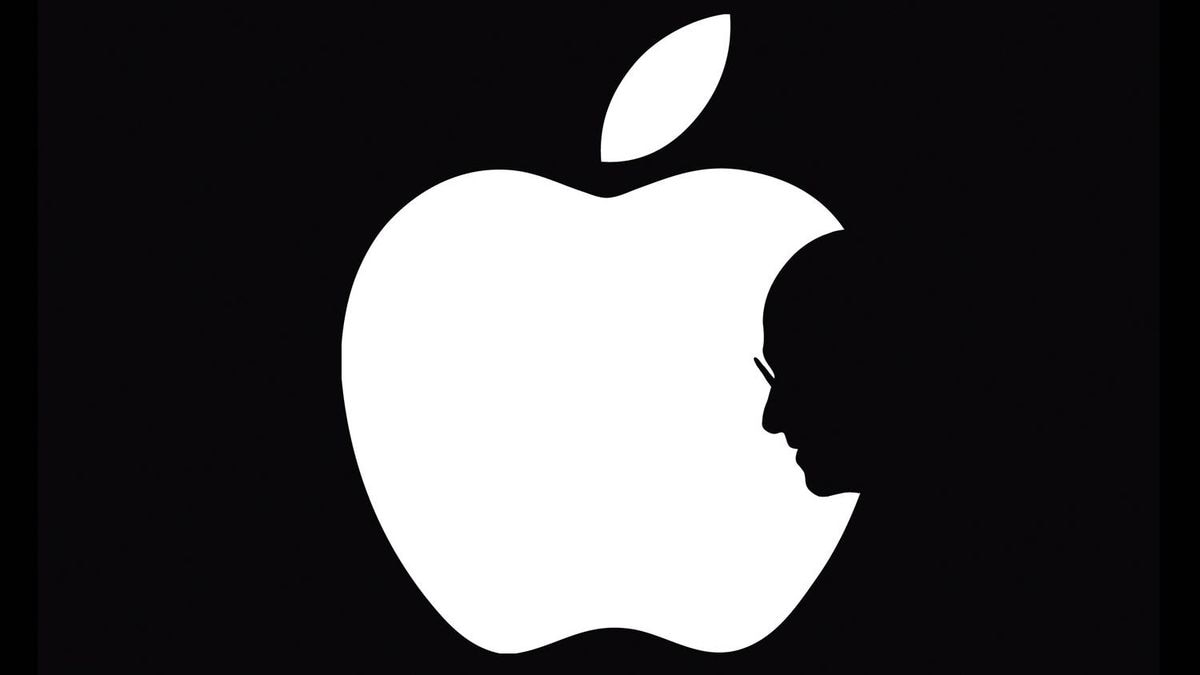 A symbol designed by Hong Kong design student Jonathan Mak is made available to Reuters on October 6, 2011. Nineteen-year-old Jonathan Mak, a student at Hong Kong's Polytechnic University School of Design, came up with the idea of incorporating Steve Jobs' silhouette into the bite of the Apple logo, symbolising both Jobs' departure and lingering presence at the core of the company.