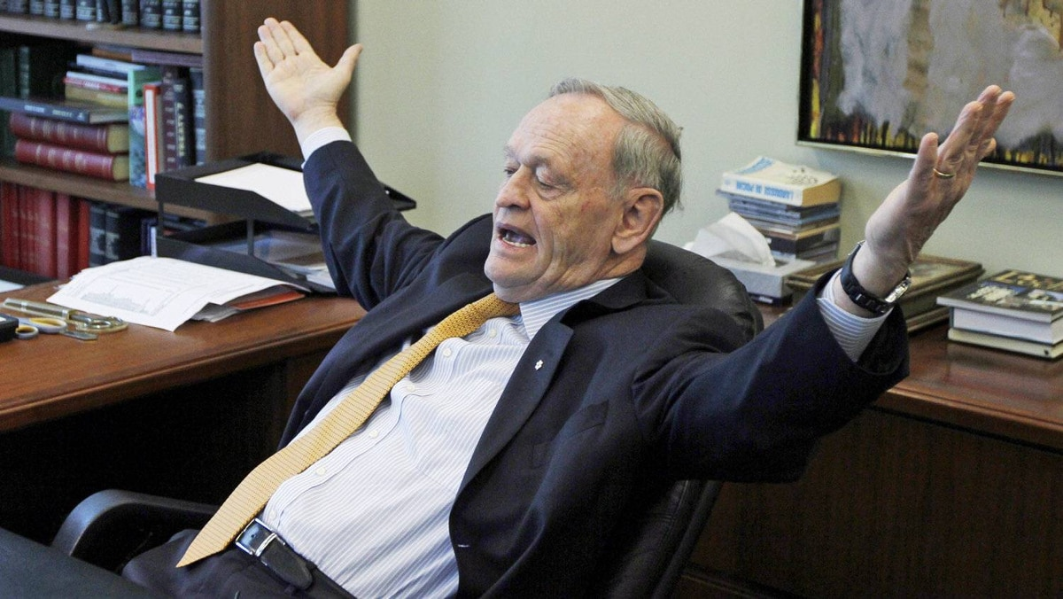 Former prime minister Jean Chrétien gives an interview at his Ottawa office on April 16, 2012.