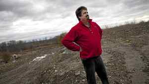 Gord Hamilton walks on landfill he ordered from Green For Life on his country property near Pickering Nov. 10, 2011. Hamilton has since found that the fill he received shows signs of contaminated.
