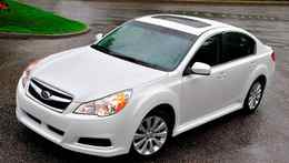 The 2010 Subaru Legacy is more streamlined and upscale.