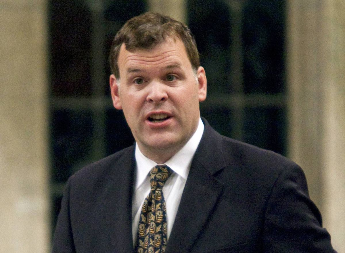 Transport Minister John Baird speaks during Question Period on Friday, November 20, 2009.