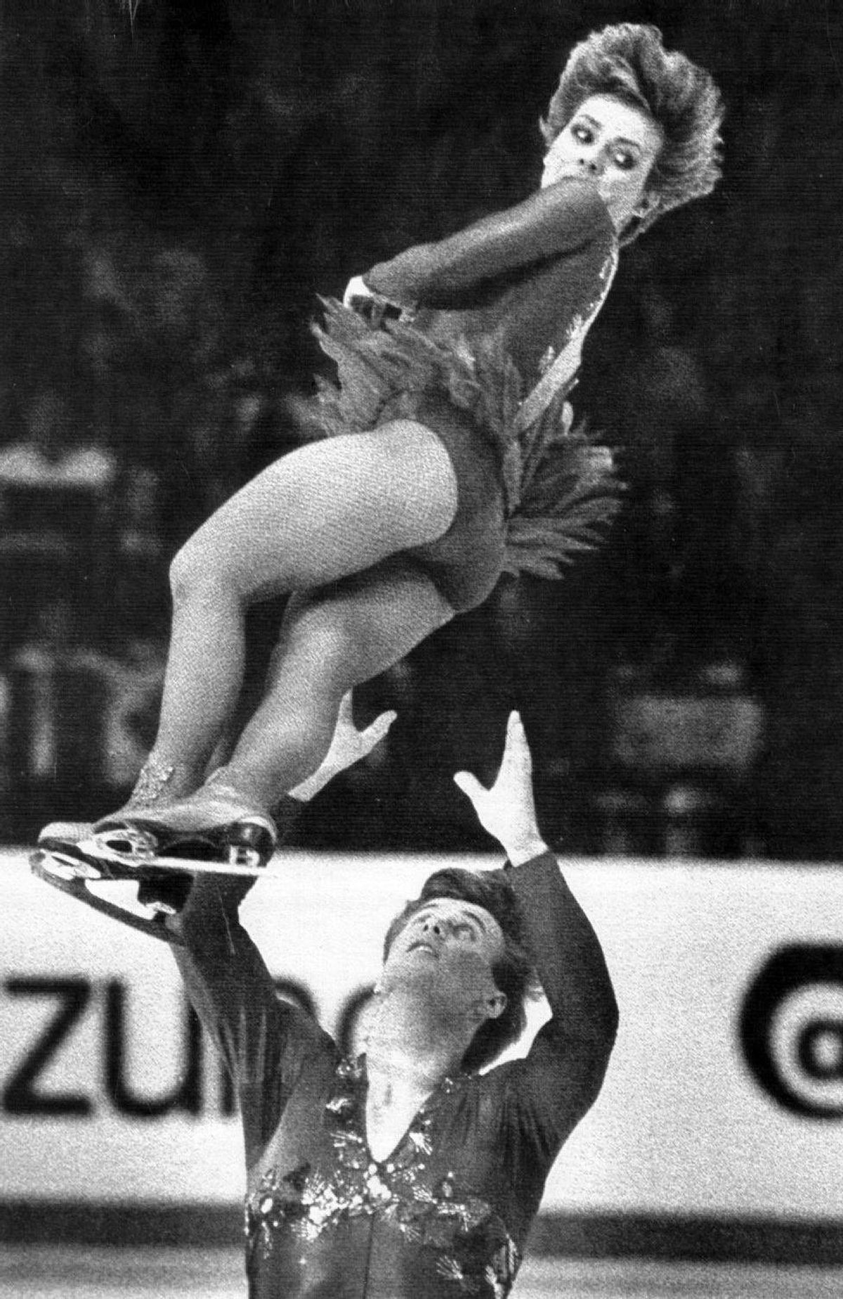 March 22, 1984, Ottawa: Canada's Barbara Underhill and Paul Martini perform their long program March 22nd, winning the gold medal at the World Figure Skating Championships.