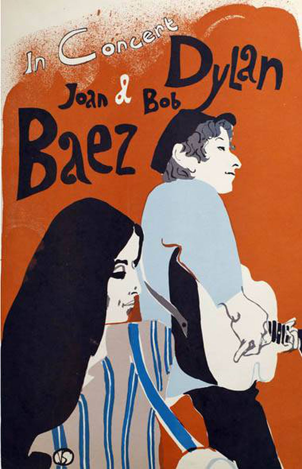 Joan Baez and Bob Dylan 1965 East Coast tour poster by artist Eric Von Schmidt. Part of a collection of rare and valuable posters gifted to the AGO, photographed on February 18, 2011.