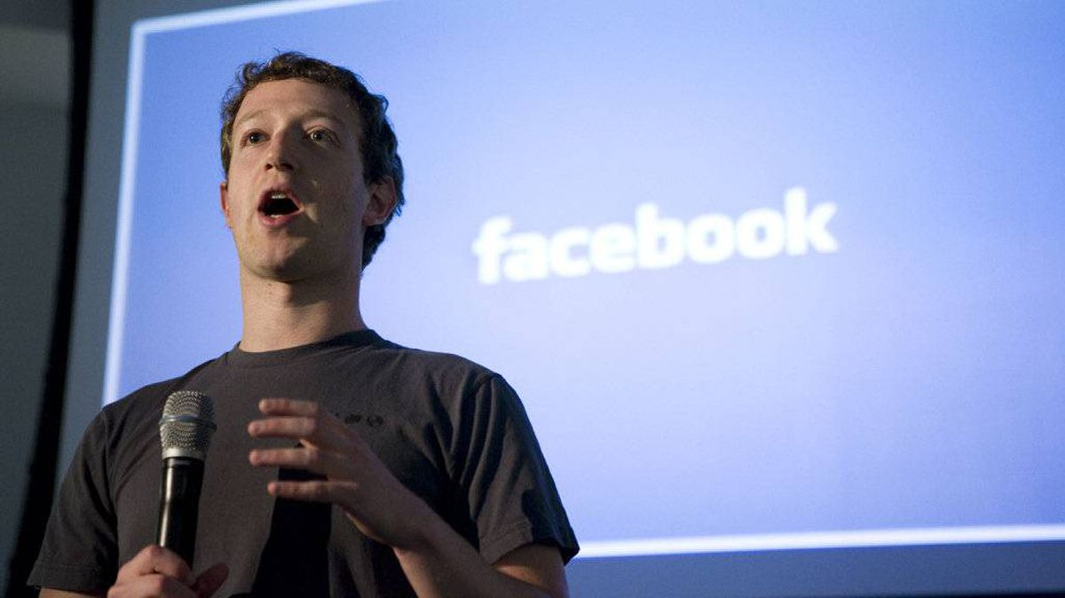"This April 7, 2011 file photo shows Mark Zuckerberg, CEO of Facebook, making an opening speech of the media event, ""behind the Scenes"" to show the latest technology powering Facebook at their headquarters in Palo Alto in California."