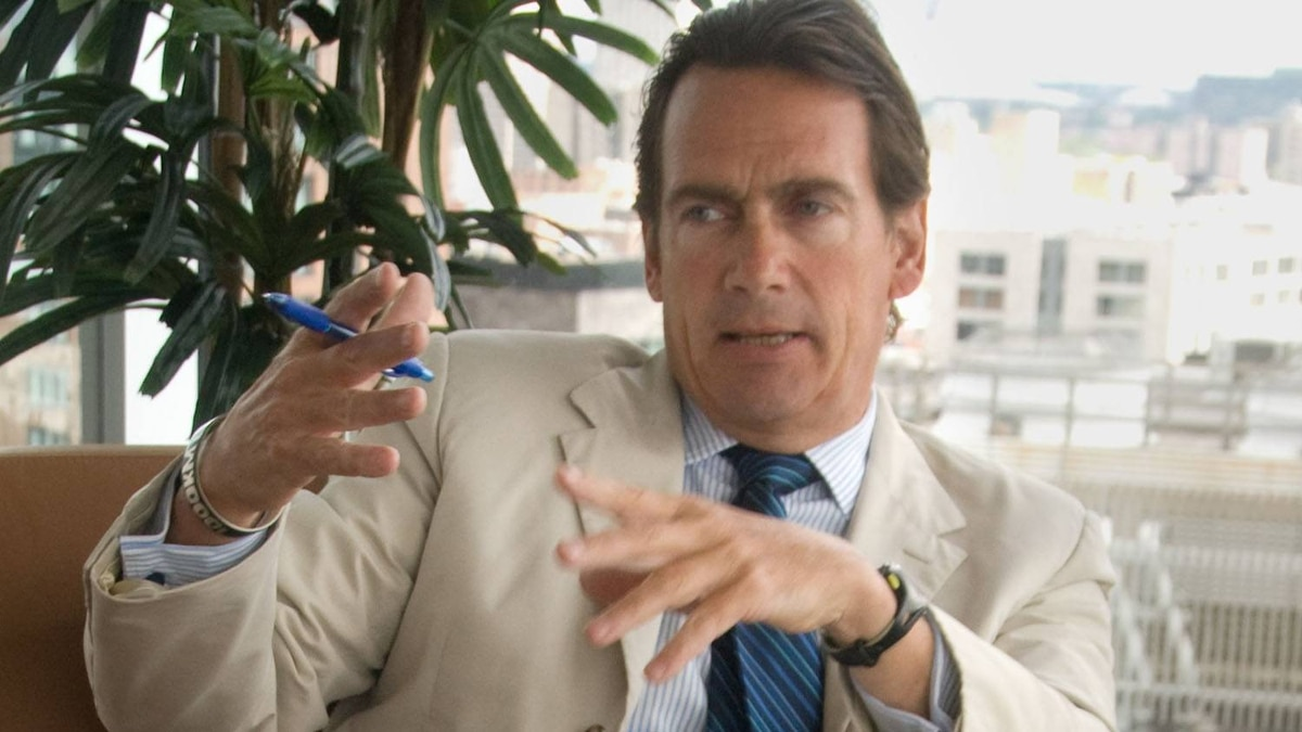 Pierre Karl Peladeau, President and CEO of Quebecor Inc., at the Montreal headquarters of Quebecor Inc., in Montreal, Friday, July 30, 2010. (The Globe and Mail/Robert J. Galbraith).