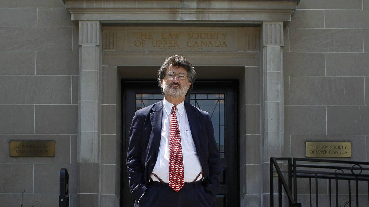 Joe Groia, seen here on the first day of his disciplinary hearing at Osgoode Hall in Toronto on Tuesday.