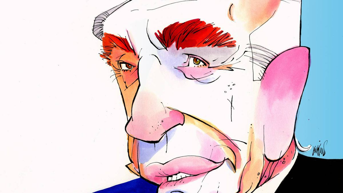 Shimon Peres illustration.