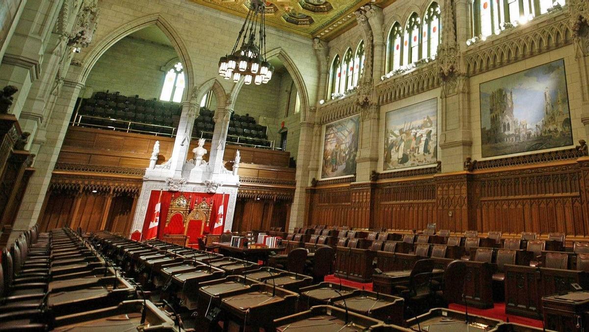 The Senate chamber sits empty in Ottawa on Jan. 17, 2011.