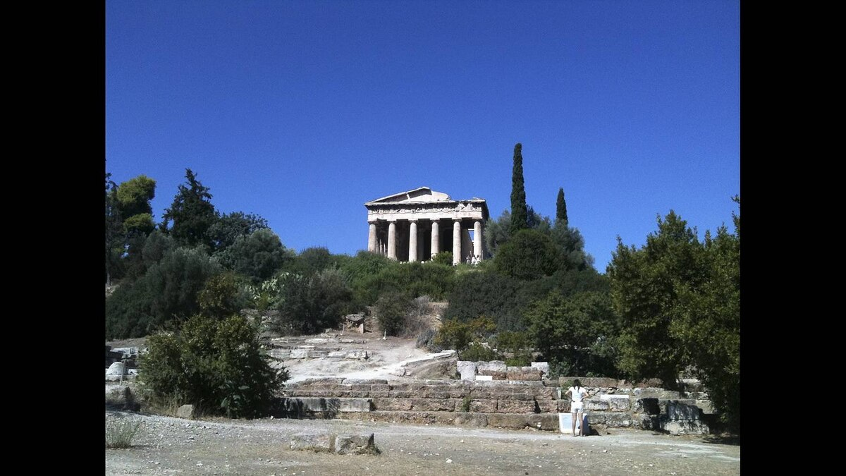 Christos Kyrtsakas photo: Thissios Temple - Another wonderful example of the ancient Greeks ability to construct beautiful marble buildings about 2500 years ago