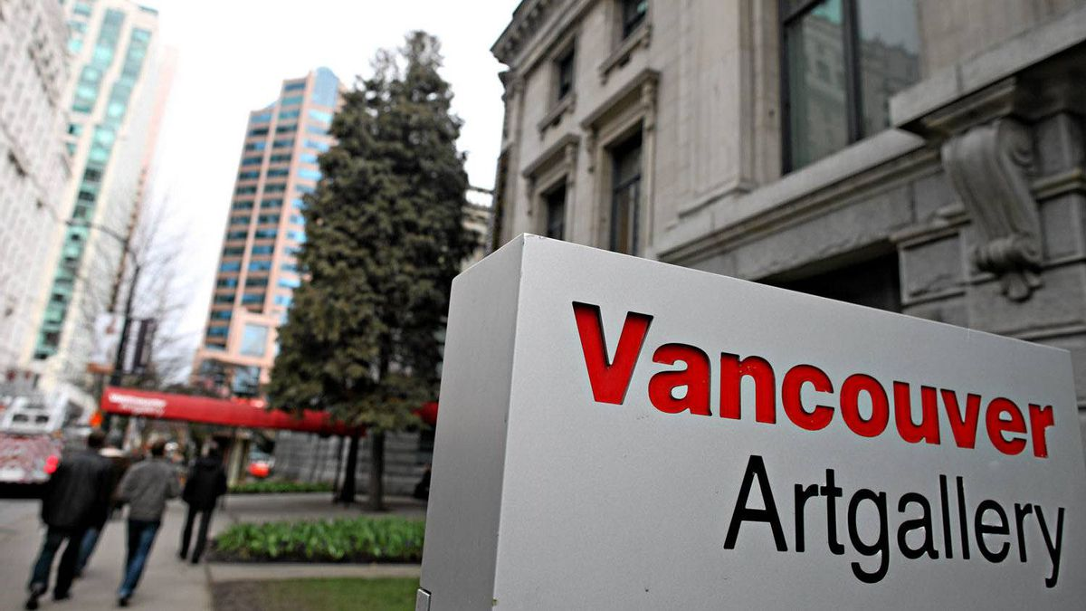 The Vancouver Art Gallery at Hornby and West Georgia streets.