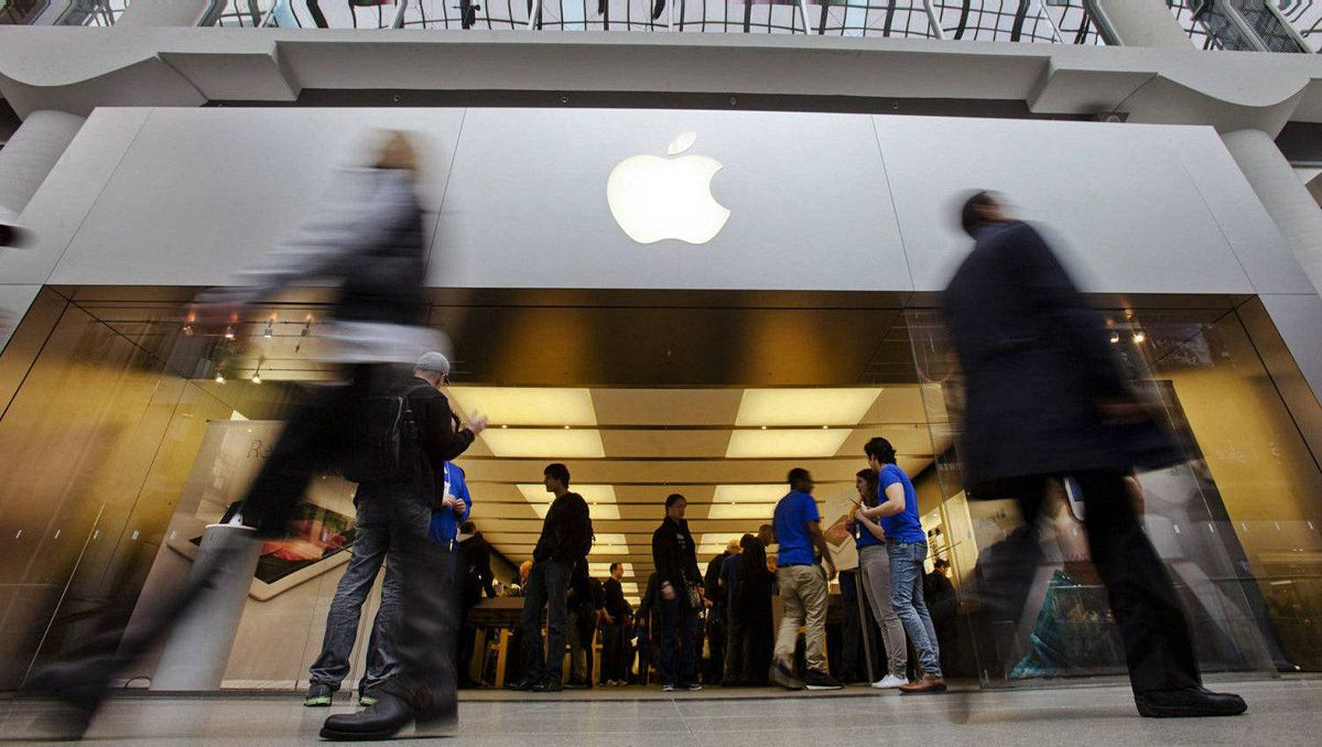 Apple sales beat the Street