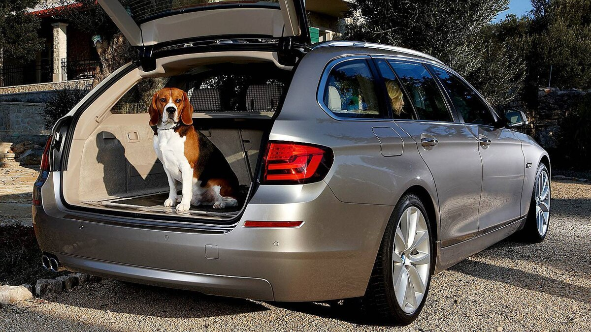 The BMW 5-Series touring wagon is not available in North America.