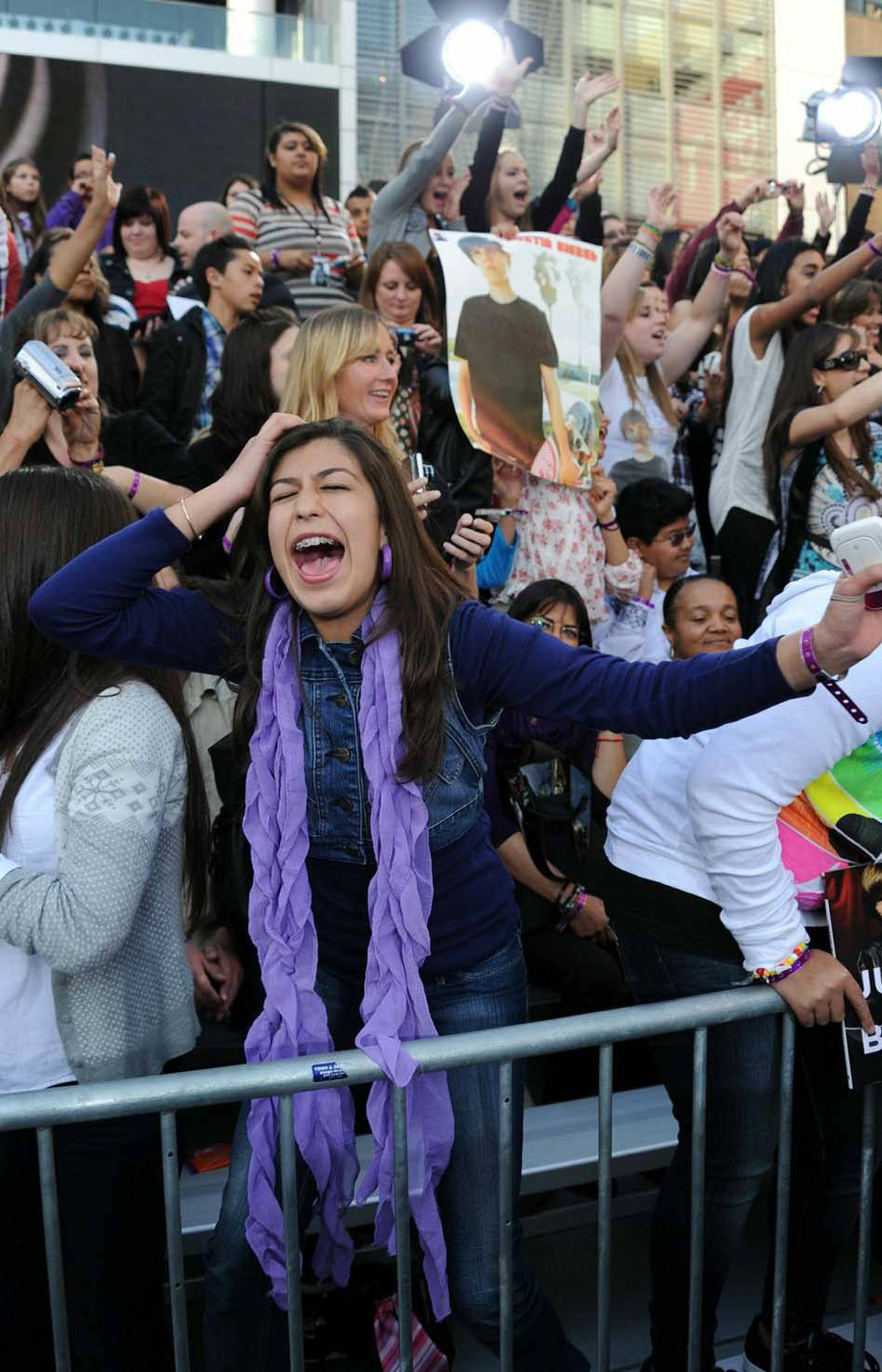 """February brought us the release of the documentary """"Justin Bieber: Never Say Never"""" and this extraordinary reaction from one of his fans at the movie's premiere in Los Angeles on Feb. 8."""
