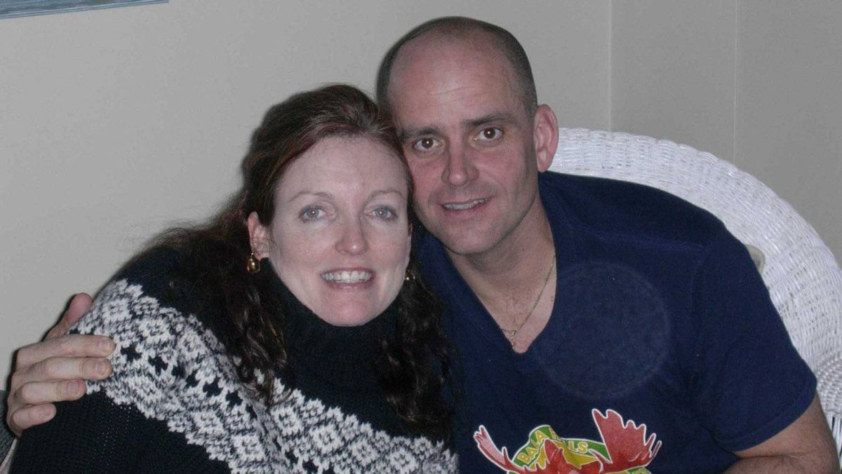 Greg Stobbart, OPP sergeant, was killed by a motorist with numerous dangerous driving convictions. He is pictured here with his wife, Eleanor McMahon.