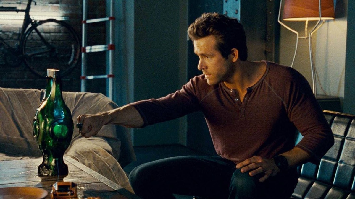 "Ryan Reynolds in a scene from ""Green Lantern"""